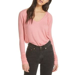 Free People Catalina V-Neck Thermal size M